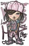 Hip-hop girl. Digital painting. hip-hop girl Stock Photos