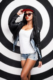 Hip hop girl. Stock Images