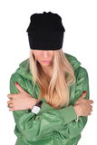 Hip-hop girl crossed hands Stock Photography