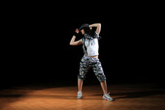 Hip hop girl in dance Royalty Free Stock Photos