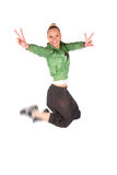Hip-Hop girl jumping Stock Image