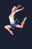 Hip hop girl jumping Royalty Free Stock Images