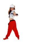 Hip hop girl pointing finger. Stock Photos