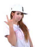 Hip hop girl Stock Photos