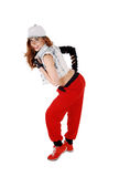Hip hop girl in profile. Stock Photography