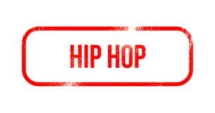 Hip Hop - gomma rossa di lerciume, bollo illustrazione vettoriale