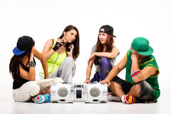 Hip-Hop-Gruppe Stockfoto