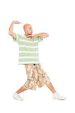 Hip-hop guy dancing Stock Photos