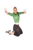 hip hop jumping dziewczyny Obraz Stock