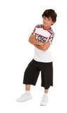 Hip Hop-Junge mit Haltung Lizenzfreie Stockfotos