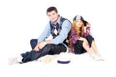 Hip-hop kids Royalty Free Stock Photo