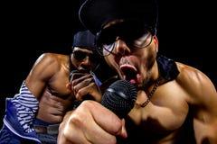 Hip Hop koncert z raperami zdjęcia royalty free