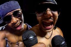 Hip Hop konsert med rappare royaltyfri fotografi