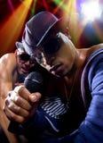 Hip Hop konsert med rappare arkivfoto