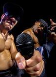 Hip Hop konsert med rappare arkivfoton