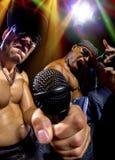 Hip Hop konsert med rappare fotografering för bildbyråer