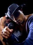 Hip Hop-Konzert mit Rappern lizenzfreies stockfoto