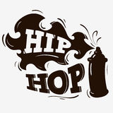 Hip Hop Label Design With A Spray Balloon Silhouette. On A Brown Background. Vector Graphic Stock Images