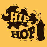 Hip Hop Label Design With A Spray Balloon Silhouette. Vector Graphic Stock Photography