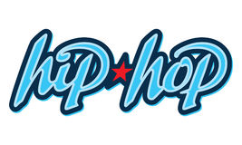 Hip-Hop lettering in graffiti style. Design element Stock Photography