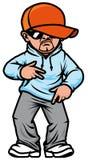 Hip hop man. Isolated illustration Cartoon hip hop man Royalty Free Stock Images