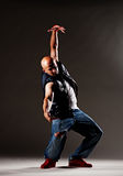 Hip-hop man dancing Royalty Free Stock Photography