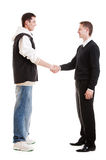 Hip-hop man greeting with businessman Stock Image