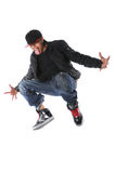 Hip Hop Man Jumping. African American hip hop man jumping Stock Photo