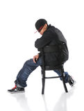 Hip Hop Man Sitting Royalty Free Stock Images