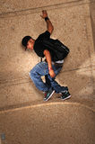 Hip Hop Man Standing on Wall Royalty Free Stock Photos
