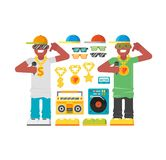 Hip hop man vector. Royalty Free Stock Photos