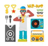 Hip hop man vector. Royalty Free Stock Photography