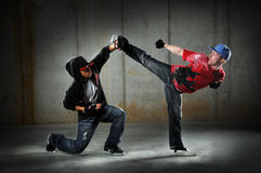 Hip Hop Men Dancing Royalty Free Stock Photos
