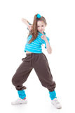 Hip hop modern dance. Street dancer dancing hip hop modern dance stock photos