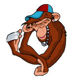 Hip hop monkey ape bling Royalty Free Stock Image