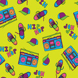 Hip hop music seamless pattern Royalty Free Stock Photos