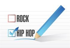 Hip hop over rock illustration design Stock Photos