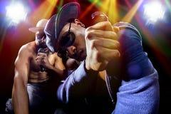 Hip Hop-Overleg met Rappers Royalty-vrije Stock Foto's