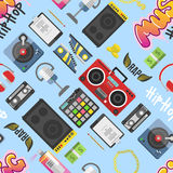 Hip hop pattern vector background Royalty Free Stock Photos