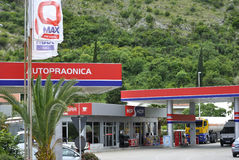 Hip Hop Petrol gas station. Igalo, Montenegro – June 15, 2016: Hip Hop Petrol gas station is located in Igalo town, Montenegro Stock Images