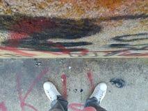 Hip Hop photo. Grafitti wall photo, on a railroadbridge Royalty Free Stock Image