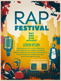 Hip Hop Poster Royalty Free Stock Images