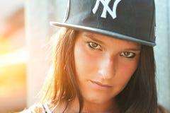 Hip hop rap girl stock photo