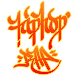 Hip-hop Rap. Hip-hop and Rap words written with graffiti style on white background Stock Photo