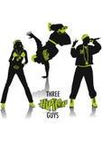 Hip-hop silhouettes vector illustration