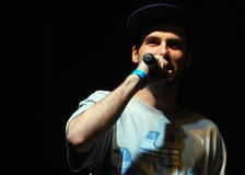 Hip Hop singer performs in concert at Street Heroes urban festival Stock Photography