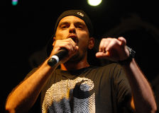 Hip Hop singer performs in concert at Street Heroes urban festival Stock Photos