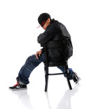 Hip Hop Sitting on Chair Royalty Free Stock Photography