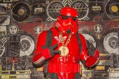 Hip Hop Storm Trooper. Long Beach, CA - USA - September 12, 2015: Hip Hop Storm Trooper at The Long Beach Comic Con held at the Long Beach Convention Center Stock Photos