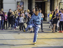 Hip hop street dancer. Hip hop male street dancer in central London, England Stock Photo